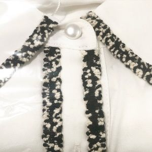 T&J Designs Dresses - New Mini Dress With White With Tweed Trim
